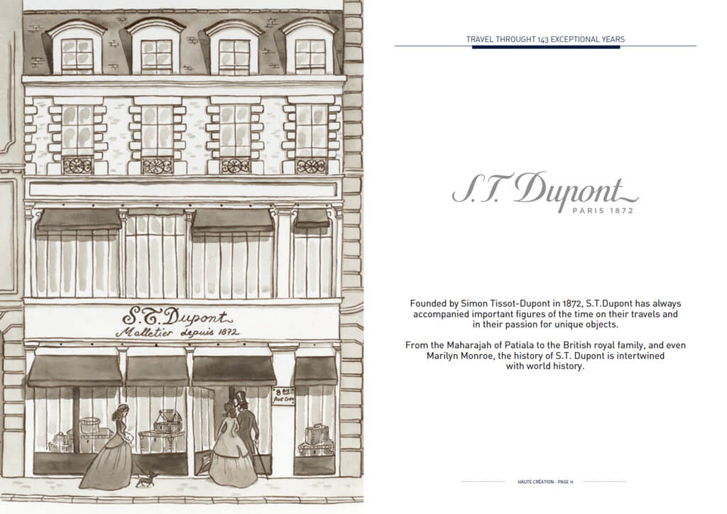 <p>S.T.Dupont : Edition brochure</p>