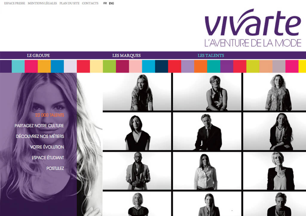 <p>Vivarte : Website corporate et RH</p>