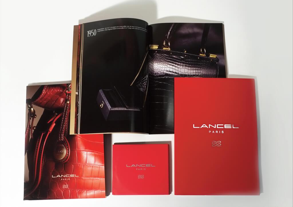 <p>Lancel : Edition des catalogues produits, look books, dossiers de presse, brand books.</p>