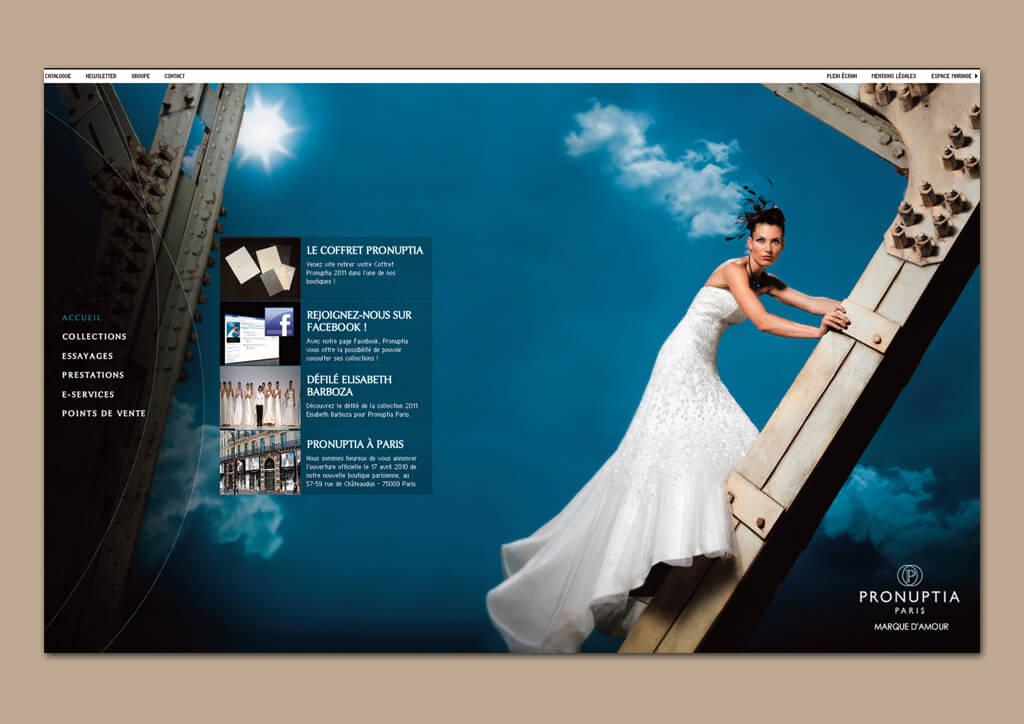 <p>Pronuptia : Lancement site internet et RDV boutiques</p>